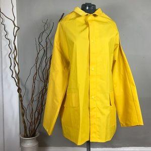 Yellow Fall Fashion Rain Jacket Corduroy Collar